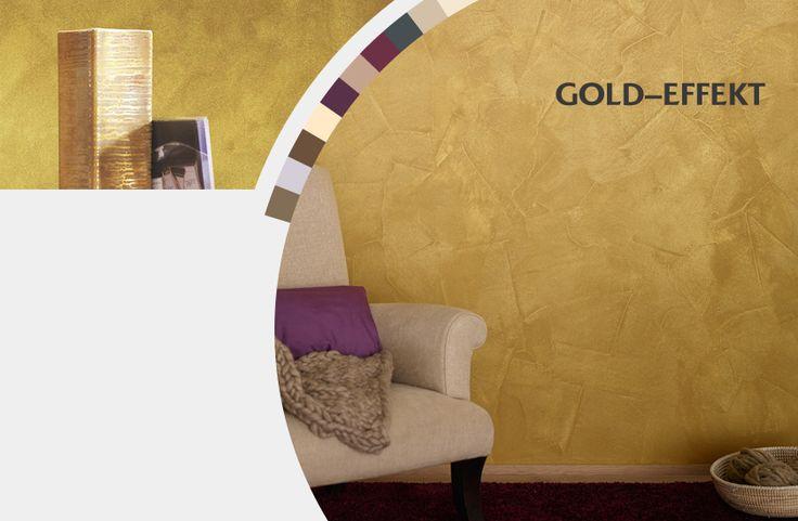 goldeffekt-ganz einfach steichen mit  wandfarbe
