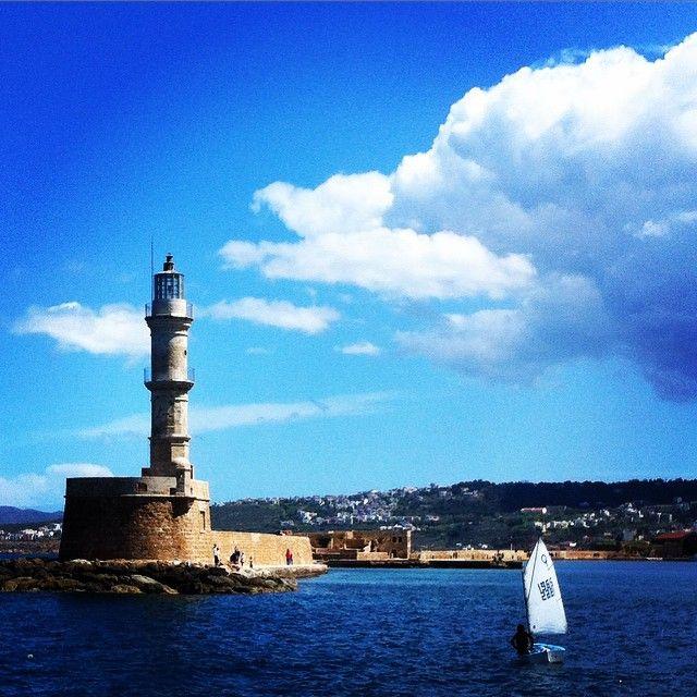 #Chania #Harbour #Beauty Photo credits: @timoleon76