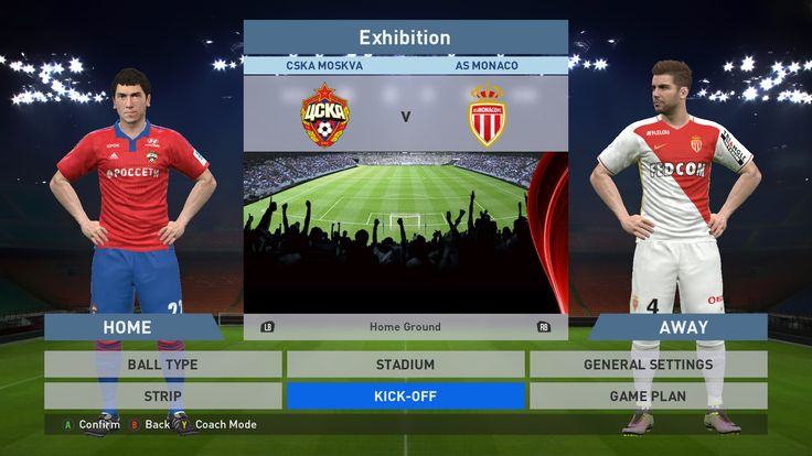 CSKA Moskva vs AS Monaco FC, VEB Arena, PES 2016, PRO EVOLUTION SOCCER 2016, Konami, PC GAMEPLAY, PCGAMEPLAY
