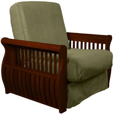 concord futon chair finish  mahogany upholstery  olive green   http    best 25  futon chair ideas on pinterest   small futon sofa bed