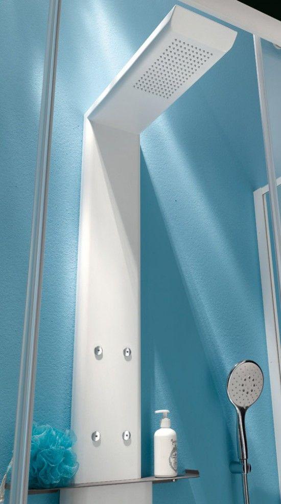 Colonna doccia con nebulizzatori. Soffione Getto a pioggia