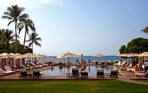 The Four Seasons Hotel - Kona, Hawaii. Especially fond of the pool.