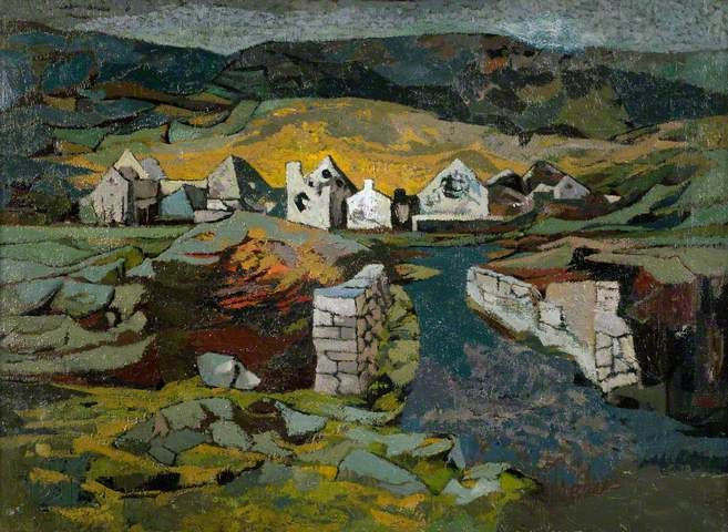 Derelict Mines near Neath John Elwyn paintings
