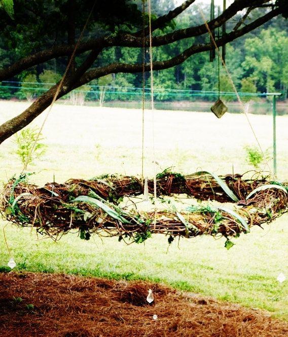 Grapevine Chandelier: rustic grapevine Chandelier - handmade outdoor lighting: Caldren Acr,Lighting
