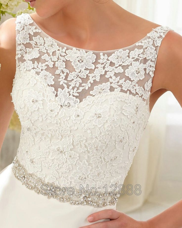 Style 5204 Extravagant Wedding Gowns Boat Neck Sleeveless Ivory Organza A line Wedding Dresses Designs Couture Dresses-in Wedding Dresses