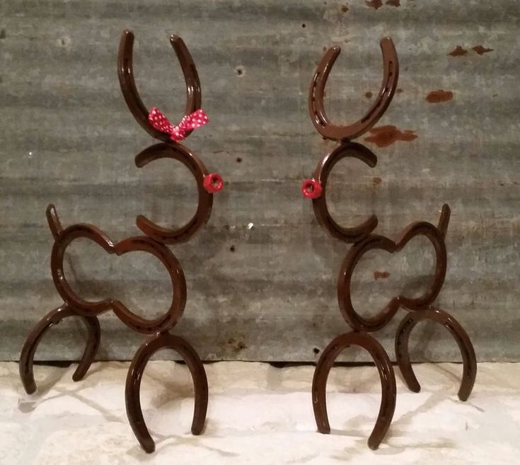 Horseshoe Reindeer Projects To Try Pinterest