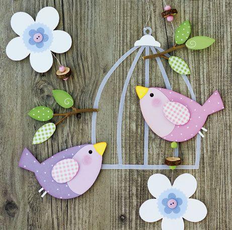 Gabarit cage et oiseaux à imprimer pour activités printemps