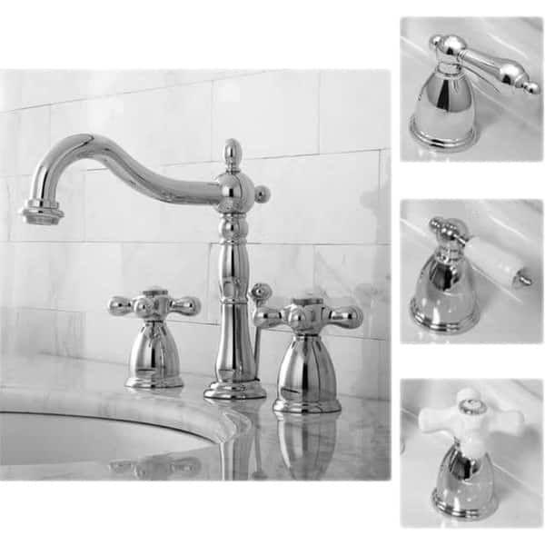 Victorian Chrome Widespread Bathroom Faucet Widespread Bathroom