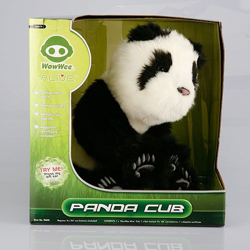 Panda Cub - Robot interactiv, pui de animal, imbracat cu plus