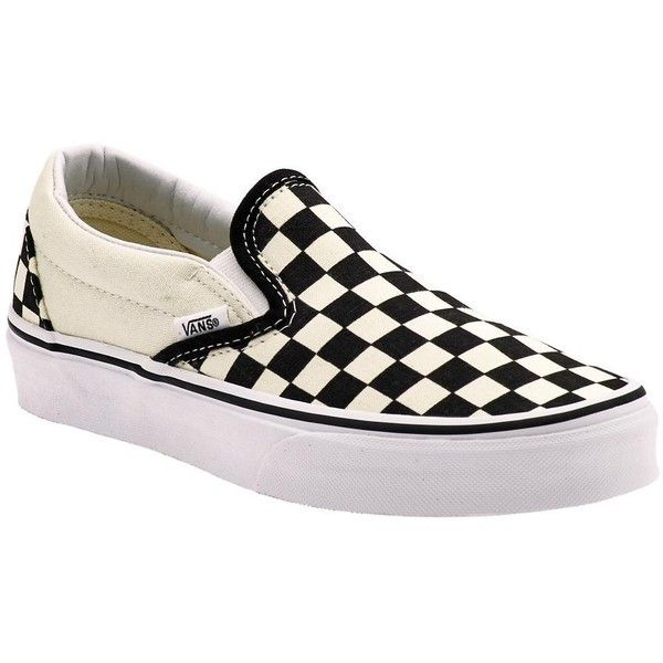 Vans Classic Slip-On ❤ liked on Polyvore featuring shoes, sneakers, vans, flats, slip-on shoes, canvas slip on shoes, vans footwear, flat slip on shoes and vans flats