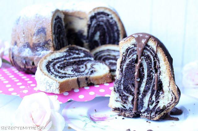 Rezepte mit Herz: Zebra - Marmorkuchen ♡