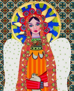 Mexican Folk Art  MEXICAN ART print poster of by HeatherGallerArt, $24.00