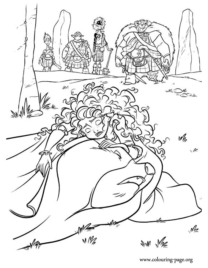 In This Coloring Page From Brave Merida Puts The Sewn Tapestry On Top Of