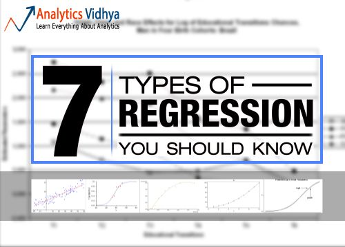 7 Types of Regression Techniques you should know!