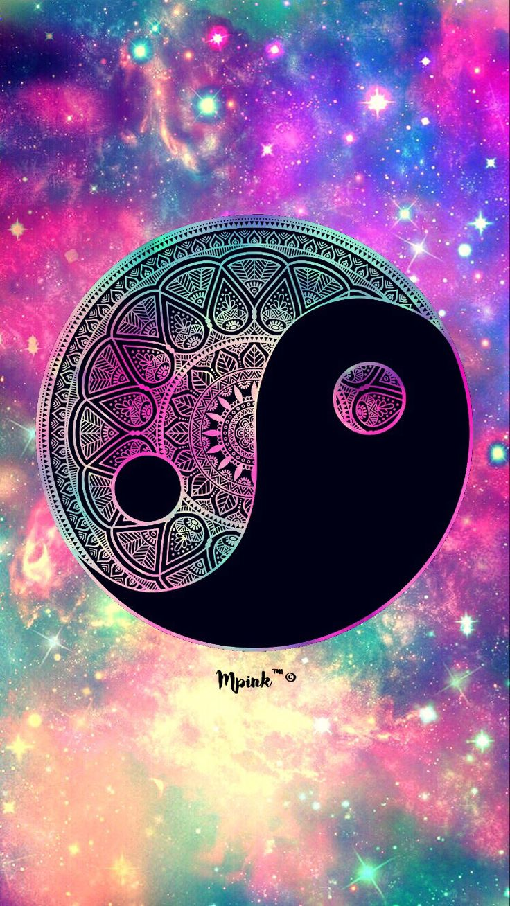 2017 yin yang galaxy created wallpaper by me my - Yin and yang wallpaper ...