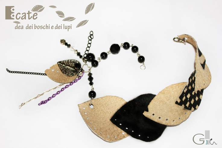 Jewelry design_ handmade bijoux, necklace, DIY   #diy #jewels #jewelry #design #fashion #inspiration #necklace #handmade #bijoux #leather @G a i a T e l e s c a | GAIA TELESCA |