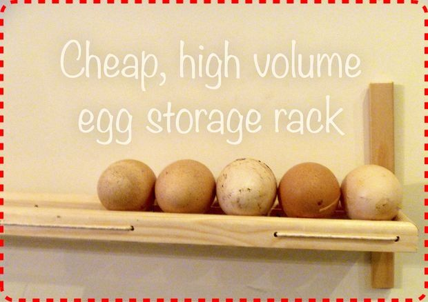 Homemade Kitchen Egg Storage Rack DIY Project Homesteading  - The Homestead Survival .Com
