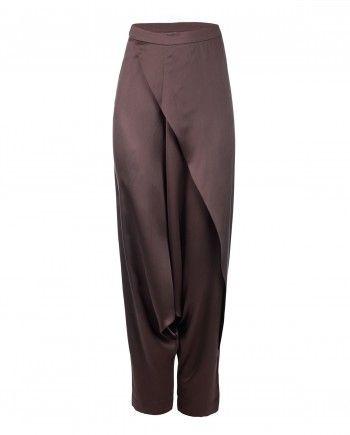 Chocolate Brown Dhoti Pants