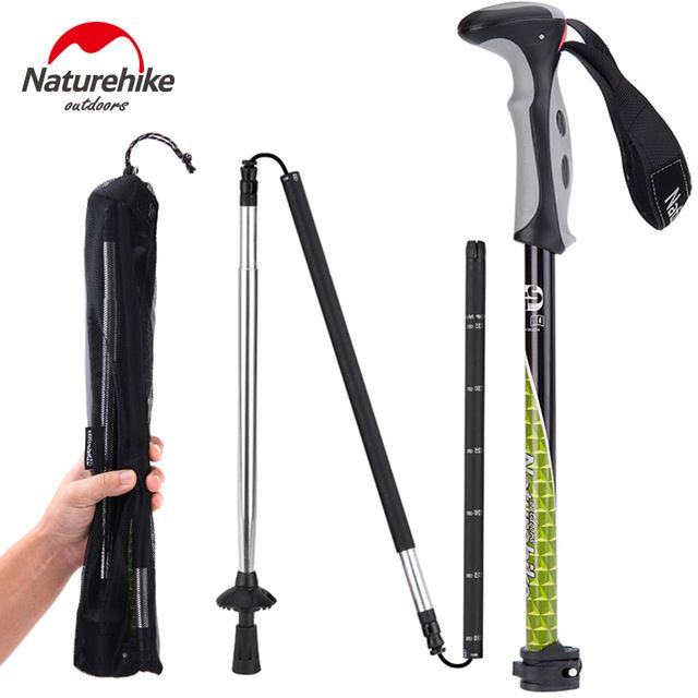 Naturehike Carbon Steel Hiking Cane Walking Stick Trekking Pole