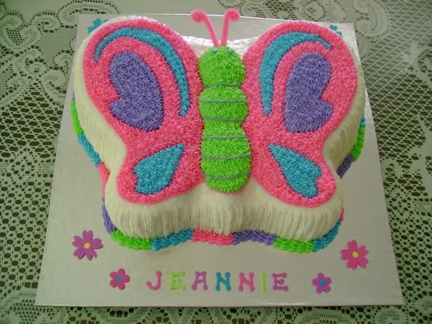 colorful butterfly cake