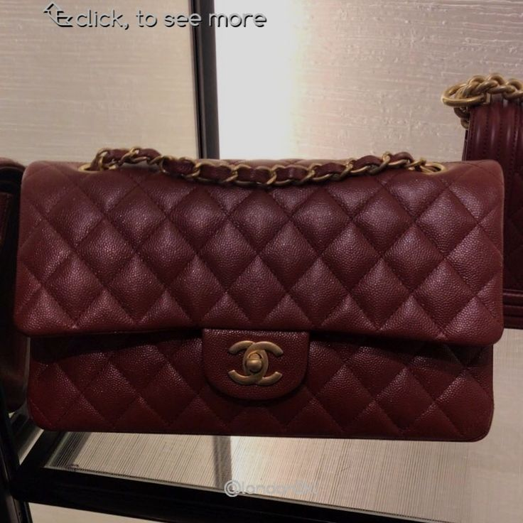Chanel   Medium Flap Bag in Burgundy Caviar GHW RM22,500