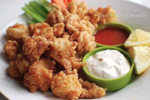 Crispy 'Buffalo' Calamari - yum!