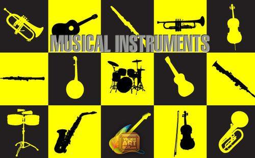 musical-instruments.jpg - 無料イラスト・フレーム be-bop.info