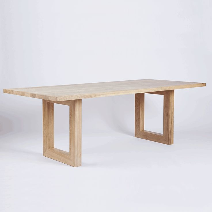 The Bondi Rectangular Dining Table. Crafted from Solid American White Oak Timber and Wood.
