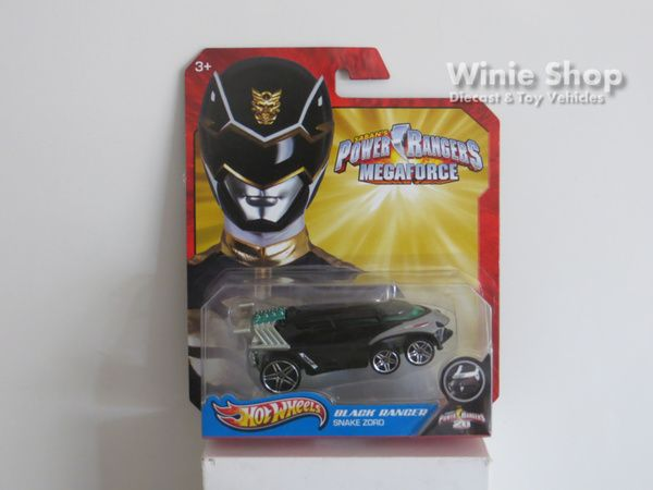 BLACK RANGER - SNAKE ZORD - 2013 HOT WHEELS SABAN'S POWER RANGERS MEGAFORCE SERIES
