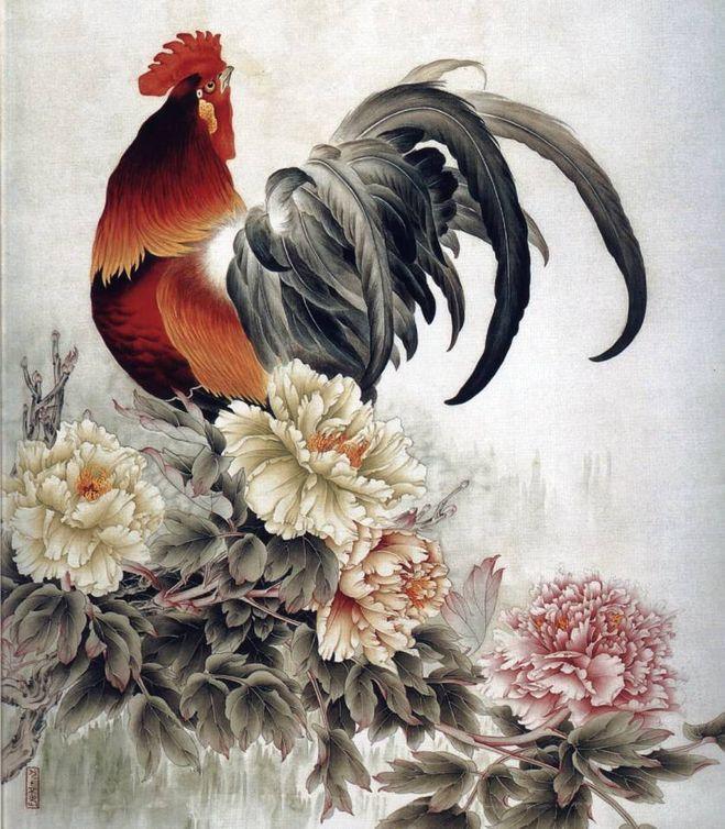 Какие ориг.изображения петуха подойдут для поздравлений с Новым годом?