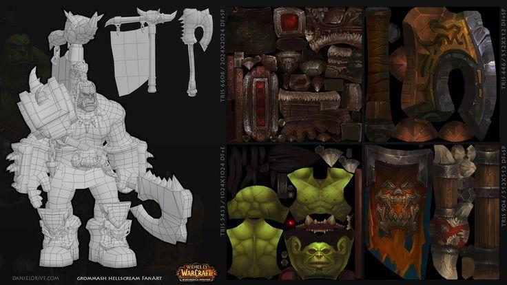 World of Warcraft Fan Art - Grommash Hellscream, Daniel Orive on ArtStation at http://www.artstation.com/artwork/world-of-warcraft-fan-art-grommash-hellscream-c7b043dd-3466-4128-9b5a-a822a7147dfd