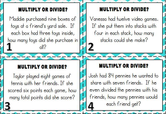 Multiplication And Division Word Problems With Images Word