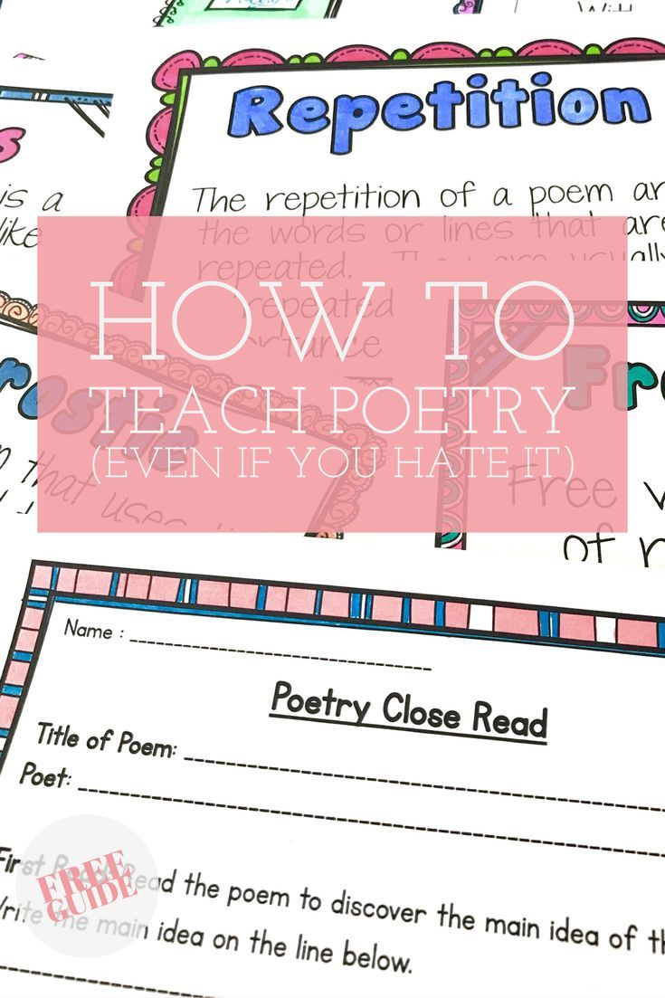 Love these ideas for teaching poetry.  The free poetry close read for any poem was great for my literacy center.