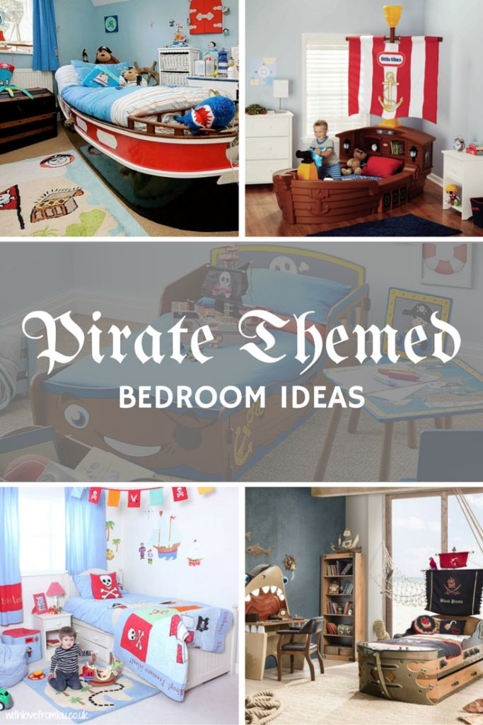 Pirate Themed Bedroom Ideas. Click here to see more: http://withlovefromlou.co.uk/2016/04/pirate-themed-bedroom-ideas/