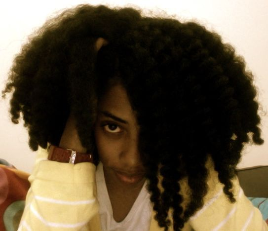 Click the image for Terrea's natural hair photos and regimen.