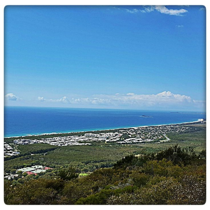 Just one of the stunning views from the top of Mount Coolum