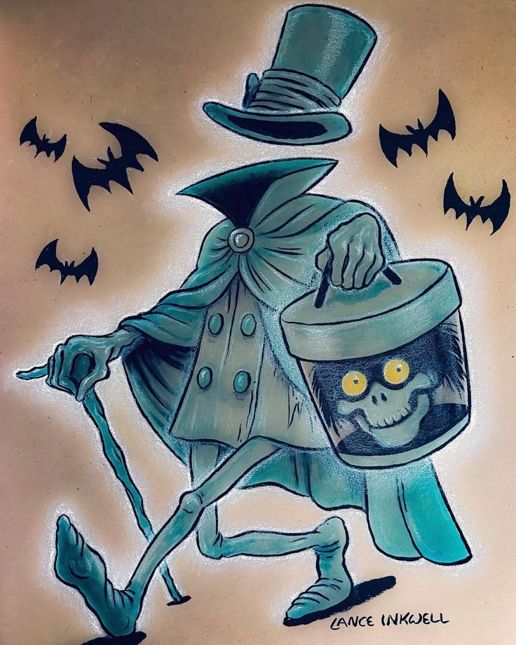 "1,172 Likes, 46 Comments - Lance Inkwell (@lance_inkwell) on Instagram: ""Today's sketch... Haunted Mansion's Hatbox Ghost. This was a really fun quick sketch. I don't do…"""