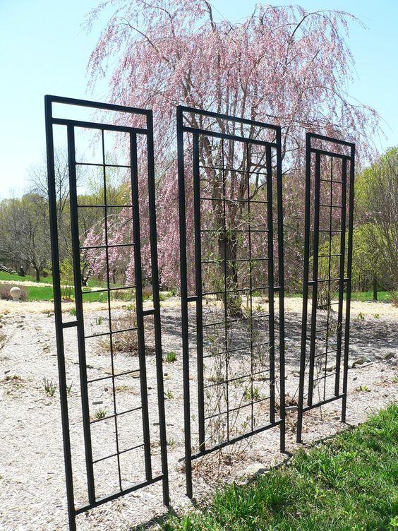 17 best ideas about wrought iron trellis on pinterest for Wire garden trellis designs