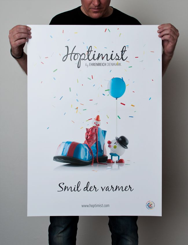 Hoptimist clown poster. Photo: Lars Brandt Stisen