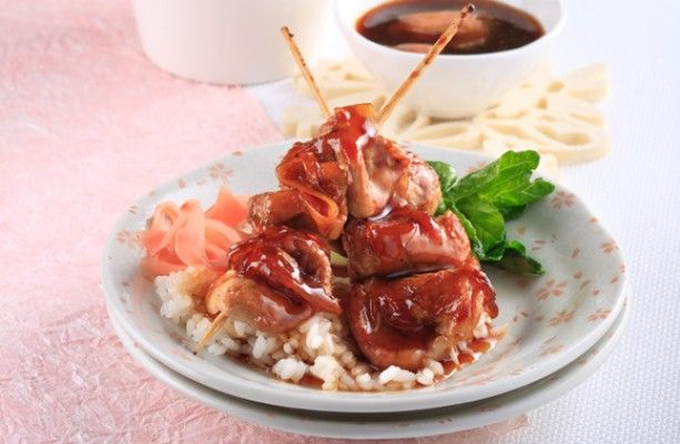 Sizzling ginger yakiniku (pork) skewers - Asian Inspirations