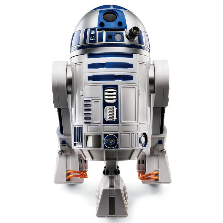 Voice-activated R2 unit responds to over 40 voice commands, dances to cantina music, answers yes or no questions, uses an infrared sensor to: play games like tag, follow behind you, or it detect motion - sounding an alarm when a secured area is invaded.