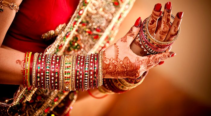 Mostly for weddings, brides are recomended to wear heavy bangles so that they give full ness to the hand.