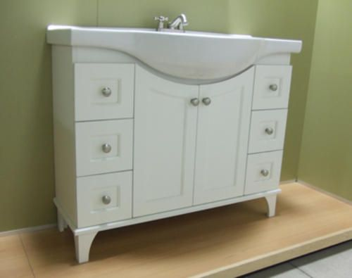 41 fairmont collection euro vanity base a narrow vanity for Bathroom vanity base ideas