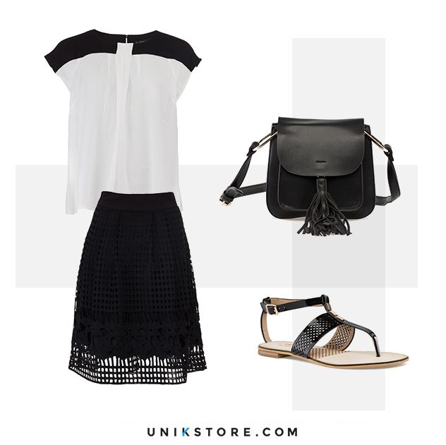 Black-and-white look for summer. Find it on unikstore.com. #shop #unikstore #style #fashion