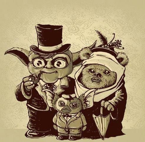 Yoda + Ewok = Mogwai    my cat actually looks a bit like mogwai too...