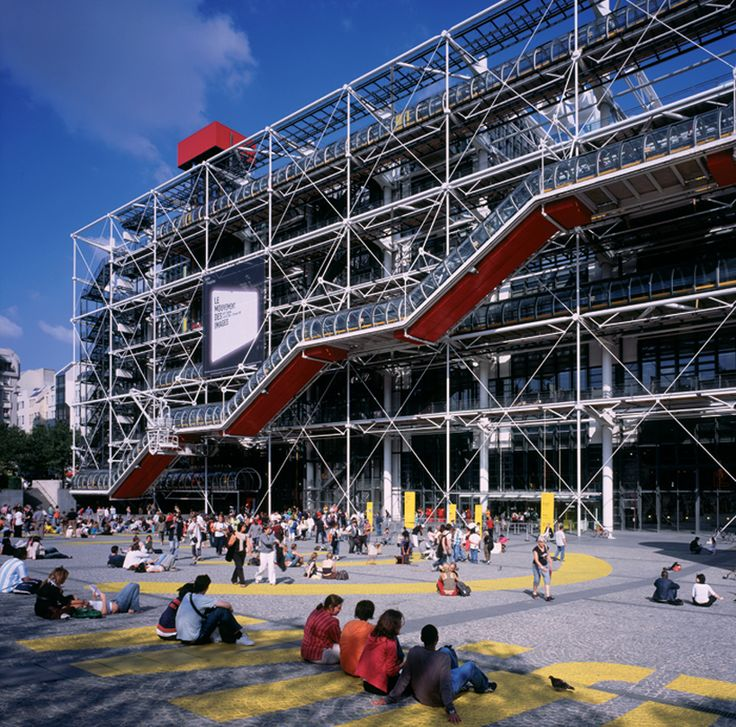 centre pompidou by richard rogers and renzo piano on display at royal academy of arts as part of the 'inside out' retrospective exhibition in honor of rogers' 80th birthday