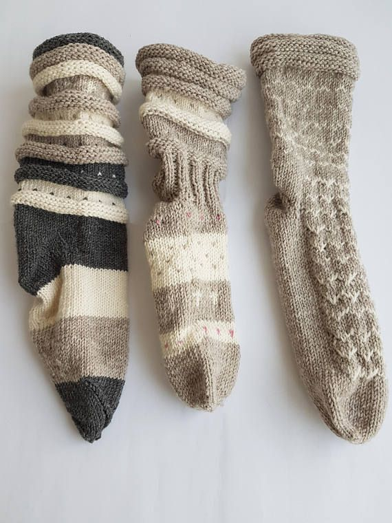 Check out this item in my Etsy shop https://www.etsy.com/listing/541381902/hand-knit-socks-wool-knit-socks-knitted