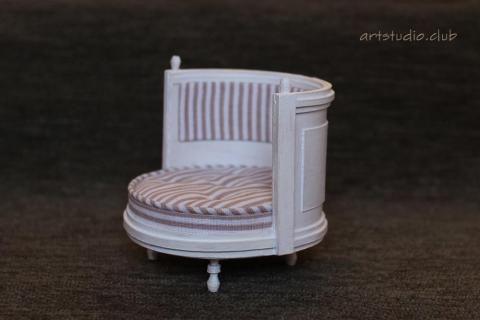 Кресло 1:12 МК видео