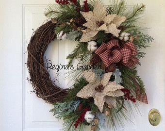 Guirnalda de la Navidad para la puerta-fiesta por ReginasGarden