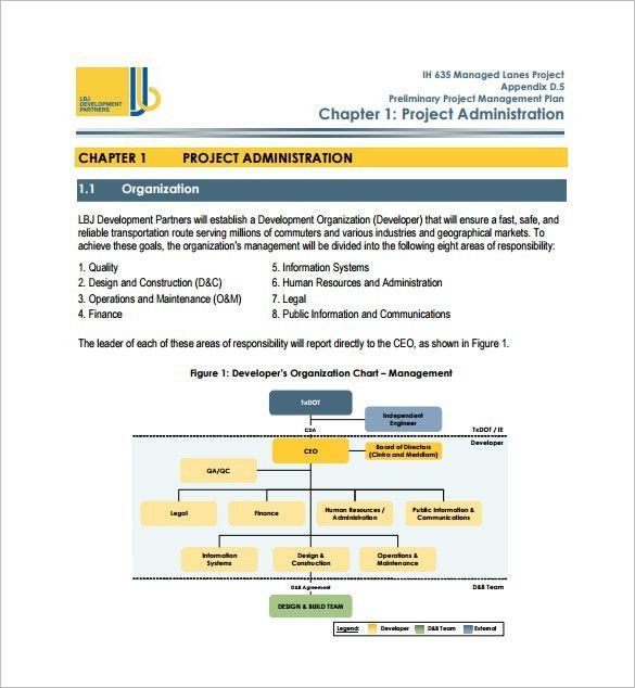 11  project management plan templates  u2013 free sample